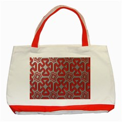 Christmas Wrap Pattern Classic Tote Bag (Red)