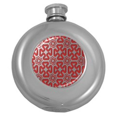 Christmas Wrap Pattern Round Hip Flask (5 oz)