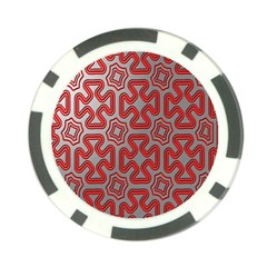 Christmas Wrap Pattern Poker Chip Card Guard
