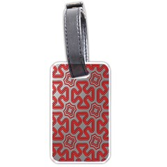 Christmas Wrap Pattern Luggage Tags (One Side)