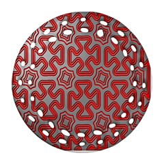 Christmas Wrap Pattern Ornament (Round Filigree)