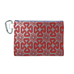 Christmas Wrap Pattern Canvas Cosmetic Bag (M)