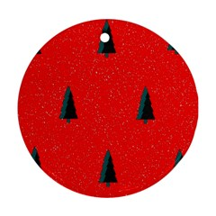 Christmas Time Fir Trees Round Ornament (Two Sides)