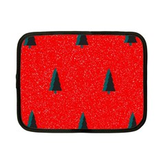 Christmas Time Fir Trees Netbook Case (Small)