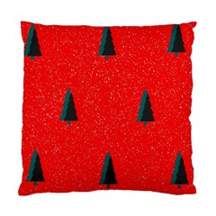 Christmas Time Fir Trees Standard Cushion Case (Two Sides)