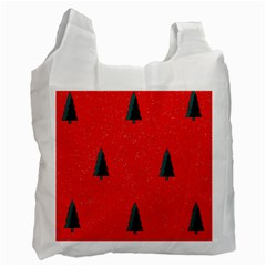 Christmas Time Fir Trees Recycle Bag (One Side)