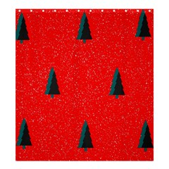 Christmas Time Fir Trees Shower Curtain 66  x 72  (Large)