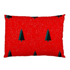 Christmas Time Fir Trees Pillow Case (Two Sides)