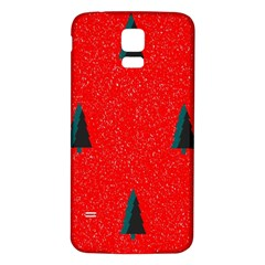 Christmas Time Fir Trees Samsung Galaxy S5 Back Case (White)