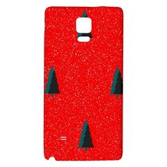 Christmas Time Fir Trees Galaxy Note 4 Back Case