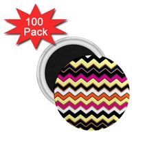 Colorful Chevron Pattern Stripes 1.75  Magnets (100 pack)