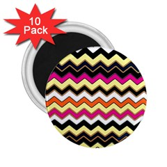 Colorful Chevron Pattern Stripes 2 25  Magnets (10 Pack)