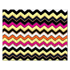 Colorful Chevron Pattern Stripes Rectangular Jigsaw Puzzl