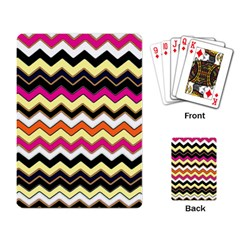 Colorful Chevron Pattern Stripes Playing Card