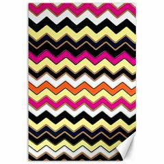 Colorful Chevron Pattern Stripes Canvas 12  x 18