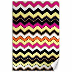 Colorful Chevron Pattern Stripes Canvas 20  x 30