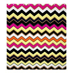 Colorful Chevron Pattern Stripes Shower Curtain 66  x 72  (Large)