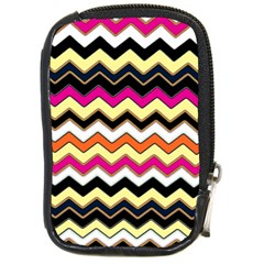Colorful Chevron Pattern Stripes Compact Camera Cases