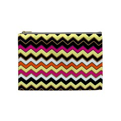 Colorful Chevron Pattern Stripes Cosmetic Bag (Medium)