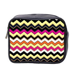 Colorful Chevron Pattern Stripes Mini Toiletries Bag 2-Side