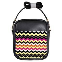Colorful Chevron Pattern Stripes Girls Sling Bags