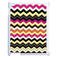 Colorful Chevron Pattern Stripes Apple iPad 2 Case (White)