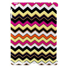 Colorful Chevron Pattern Stripes Apple iPad 3/4 Hardshell Case (Compatible with Smart Cover)