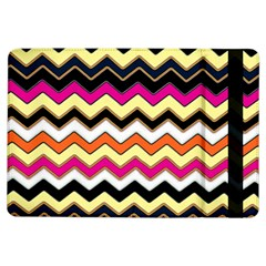 Colorful Chevron Pattern Stripes iPad Air Flip