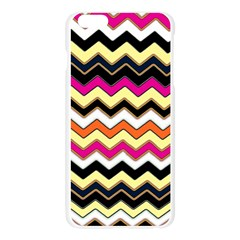 Colorful Chevron Pattern Stripes Apple Seamless iPhone 6 Plus/6S Plus Case (Transparent)