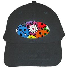 Colorful Toothed Wheels Black Cap