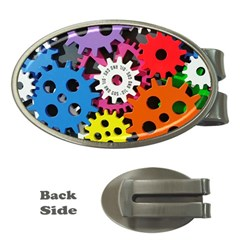 Colorful Toothed Wheels Money Clips (Oval)