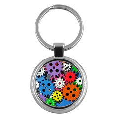 Colorful Toothed Wheels Key Chains (Round)