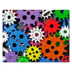 Colorful Toothed Wheels Rectangular Jigsaw Puzzl