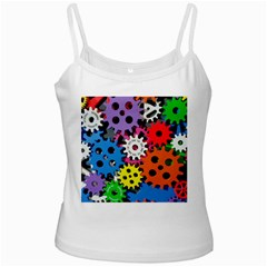 Colorful Toothed Wheels Ladies Camisoles