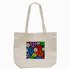 Colorful Toothed Wheels Tote Bag (Cream)