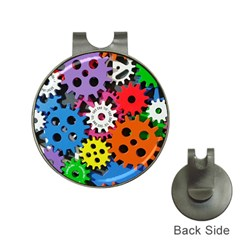 Colorful Toothed Wheels Hat Clips with Golf Markers