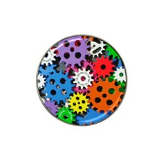 Colorful Toothed Wheels Hat Clip Ball Marker