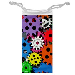 Colorful Toothed Wheels Jewelry Bag