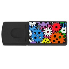 Colorful Toothed Wheels USB Flash Drive Rectangular (4 GB)