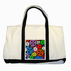 Colorful Toothed Wheels Two Tone Tote Bag