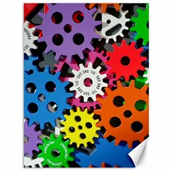 Colorful Toothed Wheels Canvas 36  x 48