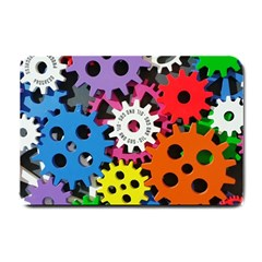 Colorful Toothed Wheels Small Doormat