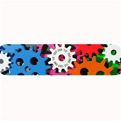 Colorful Toothed Wheels Large Bar Mats