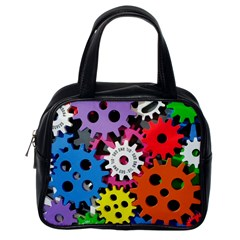 Colorful Toothed Wheels Classic Handbags (One Side)