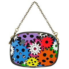 Colorful Toothed Wheels Chain Purses (One Side)