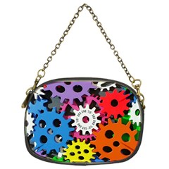 Colorful Toothed Wheels Chain Purses (Two Sides)
