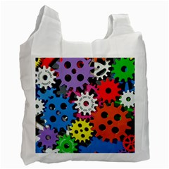 Colorful Toothed Wheels Recycle Bag (One Side)