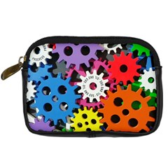 Colorful Toothed Wheels Digital Camera Cases