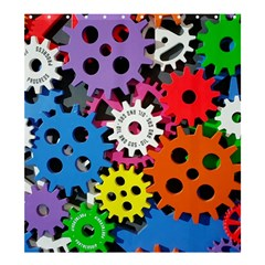 Colorful Toothed Wheels Shower Curtain 66  x 72  (Large)