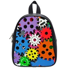 Colorful Toothed Wheels School Bags (Small)